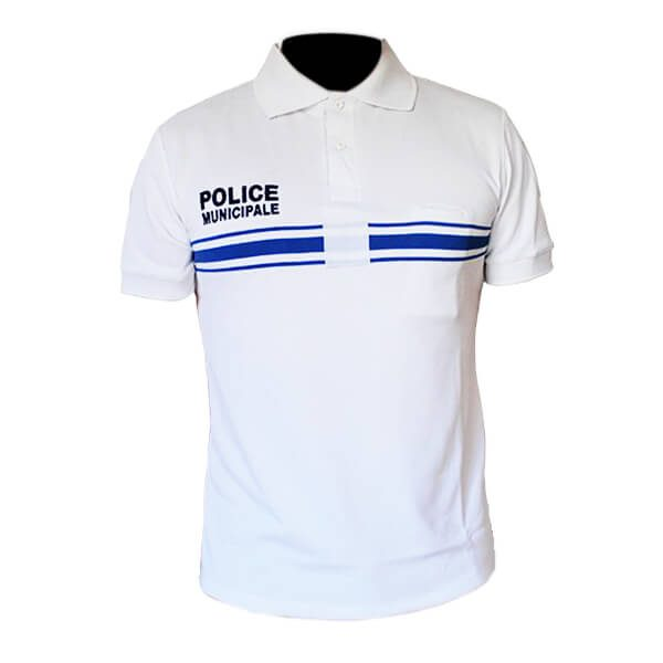 Polo Police Municipale blanc MC