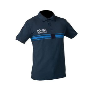 Polo Police Municipale bleu MC