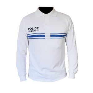 polo-police-municipale-blanc-ml
