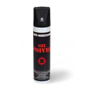 Aérosol lacrymogène anti-agression ininflammable gel poivre 75 ml