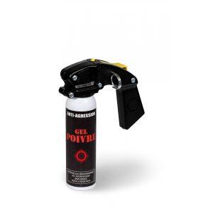Aérosol lacrymogène anti-agression ininflammable gel poivre 100 ml avec poignée